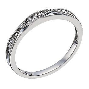 Palladium & Diamond Shaped Band - Product number 9597239