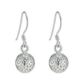 Sterling Silver Sphere Drop Earrings - Product number 9597980