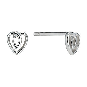 Silver Heart Stud Earrings - Product number 9598049
