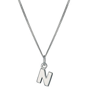 Sterling Silver Initial N Pendant - Product number 9598286