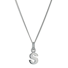 Sterling Silver Initial S Pendant - Product number 9598294