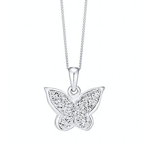Silver & Crystal Butterfly Pendant - Product number 9598510