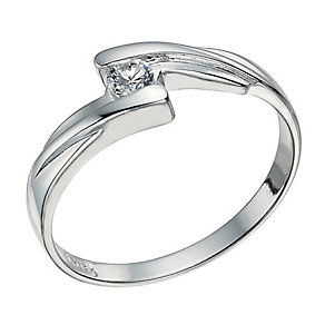 Sterling Silver Cubic Zirconia Ring Size L - Product number 9598642