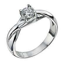 Sterling Silver 4 Claw Cubic Zirconia Ring Size N - Product number 9598685