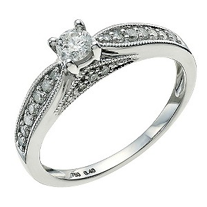 18ct White Gold 0.40 Point Diamond Ring - Product number 9600779