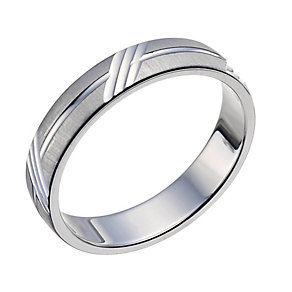 Sterling Silver 4mm Patterned Band - Product number 9601503