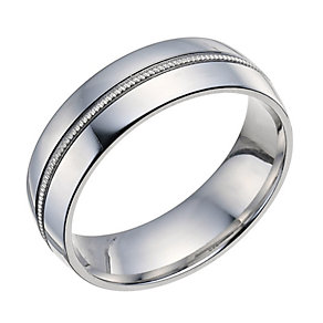 Sterling Silver 6mm Milgrain Band - Product number 9601686