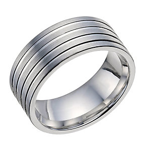 Sterling Silver Men's 8mm Groove Ring - Product number 9602100