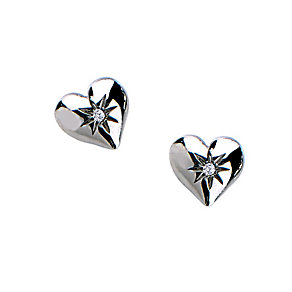 Hot Diamonds Giselle silver & diamond heart stud earrings - Product number 9605924