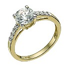 9ct yellow gold cubic zirconia solitaire ring - Product number 9607390