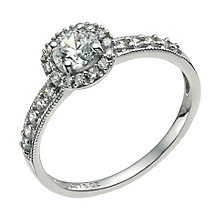9ct white gold cubic zirconia vintage ring - Product number 9609377
