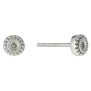 9ct white gold diamond beaded stud earrings - Product number 9609954