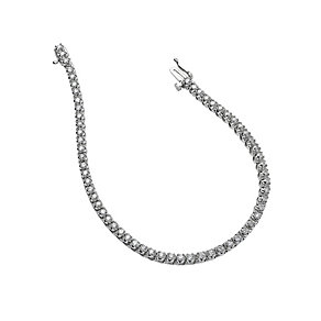 18ct white gold three carat diamond tennis bracelet - Product number 9609997