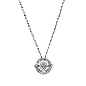 9ct white gold 1/4 carat diamond shimmers pendant - Product number 9610073