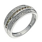 Silver 1/2 carat white & brown diamond eternity ring - Product number 9611568
