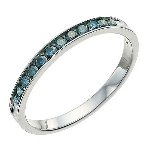 Eclipse sterling silver 1/4 carat treated blue diamond ring - Product number 9612890