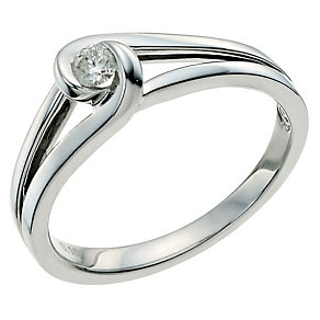 Love's Embrace sterling silver diamond ring - Product number 9614702