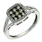 Silver White & Café diamond ring - Product number 9615547