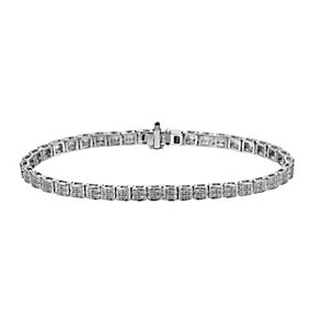 9ct white gold 0.66 point diamond bracelet - Product number 9616381
