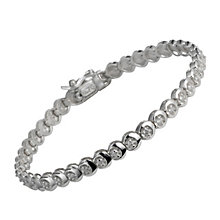9ct white gold three quarter carat diamond C link bracelet - Product number 9616438