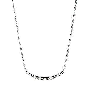 9ct white gold diamond set collar necklace - Product number 9616519