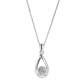 9ct white gold diamond set pendant - Product number 9616535