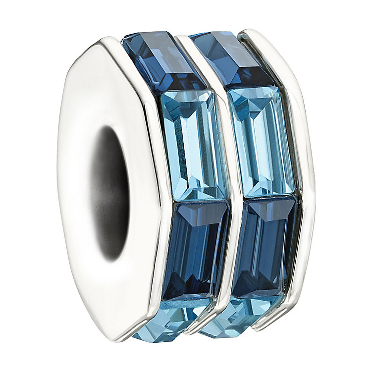 Chamilia silver double baguette cut blue bead - Product number 9616640