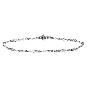 Silver diamond kiss bracelet - Product number 9616667