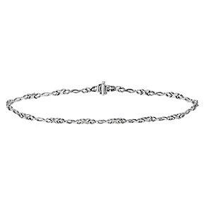 Silver diamond kiss bracelet - Product number 9616667