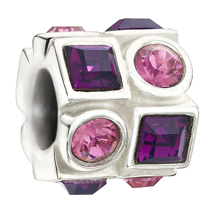 Chamilia silver pink & purple bead - Product number 9616683