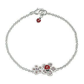 Children's Pink Flower & Ladybird Bracelet - Product number 9617051