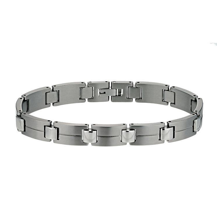 Titanium matt & polished stripe bracelet - Product number 9617191