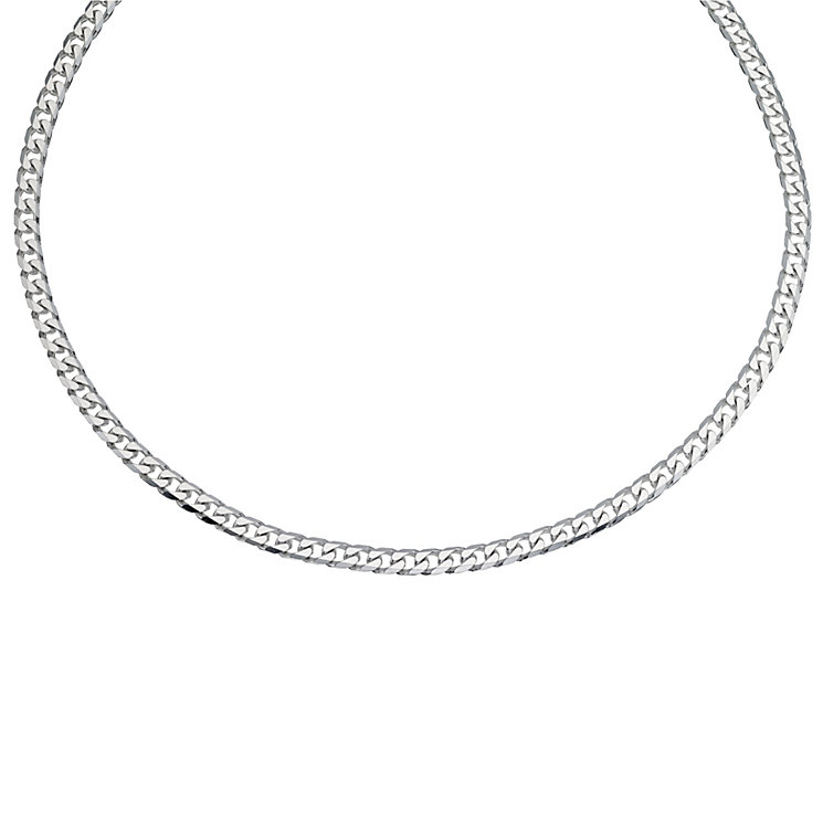 Silver men's curb necklace - Product number 9617213