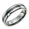 Tungsten & black ceramic stripe ring - Product number 9617922