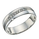 Silver & channel set diamond ring - Product number 9618724