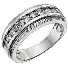 9ct white gold 1 carat pave set diamond ring - Product number 9619119