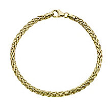 9ct yellow gold spiga bracelet - Product number 9619984