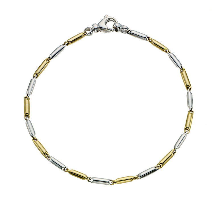 9ct two colour gold bar bracelet - Product number 9620036