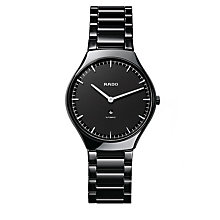 Rado True Thinline men's ceramic black bracelet watch - L - Product number 9620591