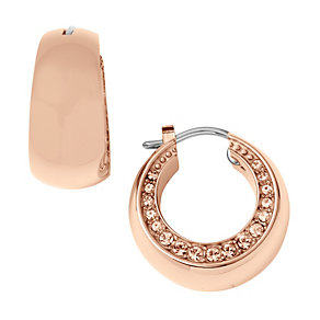 DKNY Stainless Steel & Gold-Plated Stone Set Earrings - Product number 9620664