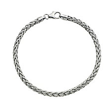 9ct white gold spiga bracelet - Product number 9620672
