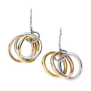 DKNY Stainless Steel & Gold-Plated Three Colour Earrings - Product number 9620680