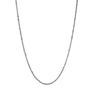9ct white gold adjustable sparkle chain - Product number 9620702