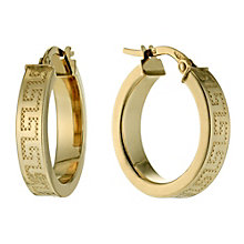 9ct yellow gold Greek key earrings - Product number 9620826