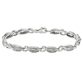 Sterling silver half carat diamond set bracelet - Product number 9621253