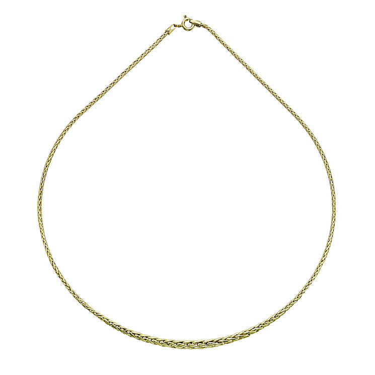 9ct yellow gold spiga necklace - Product number 9621296