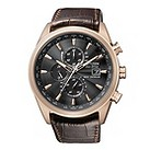Citizen Eco-Drive men's rose gold plated strap watch - Product number 9621695