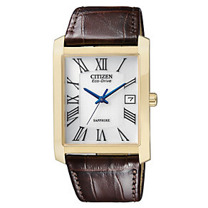 Citizen Eco-Drive men's rectangular dial strap watch - Product number 9621725
