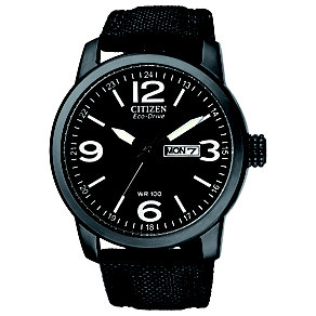 Citizen Eco-Drive men's black ion plated strap watch - Product number 9621741