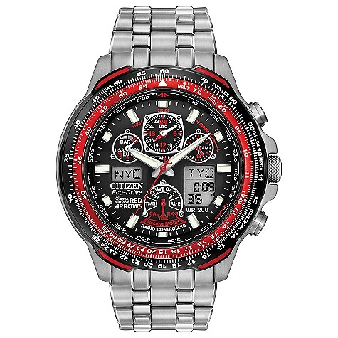 Citizen EcoDrive Red Arrows titanium bracelet watch